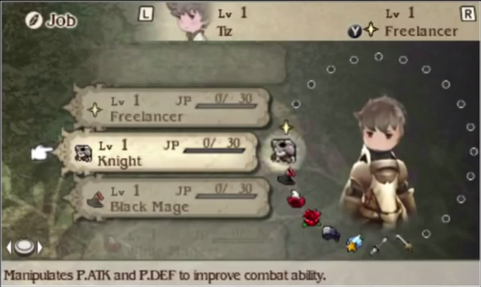 Bravely Default Review - Jobs