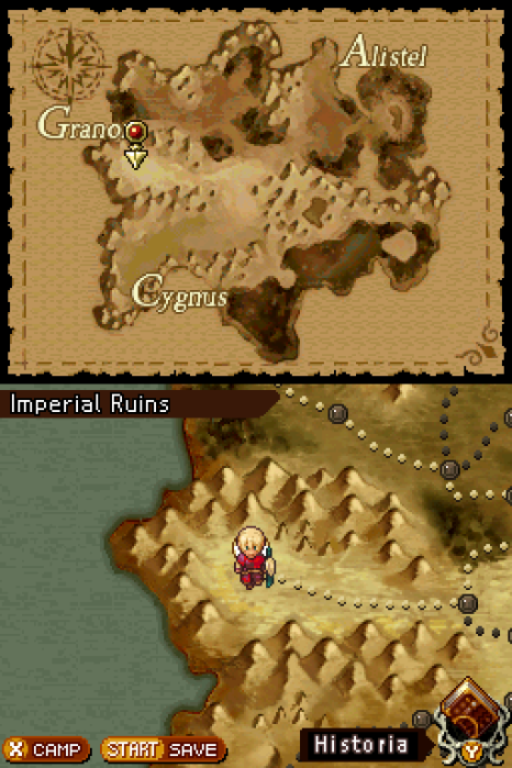 Radiant Historia Review - World Map