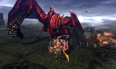 Monster Hunter 4 Ultimate Beasts - Crimson Tigrex - Charge
