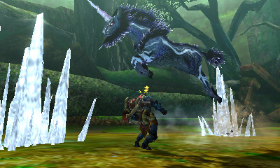 Monster Hunter 4 Ultimate Beasts - Ice Kirin - Jump