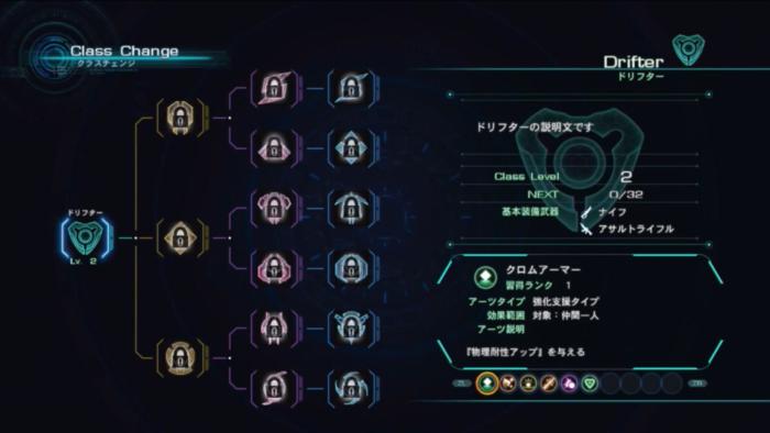 Xenoblade Chronicles X - Class Tree