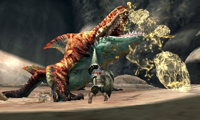 Monster Hunter 4 Ultimate Beasts - Tigerstripe Zamtrios - Paralysis
