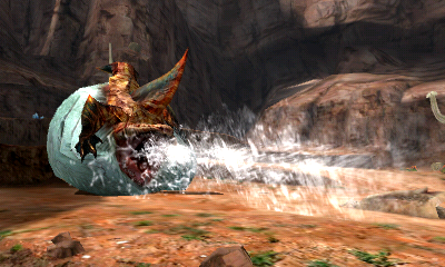 Monster Hunter 4 Ultimate Beasts - Tigerstripe Zamtrios - Water
