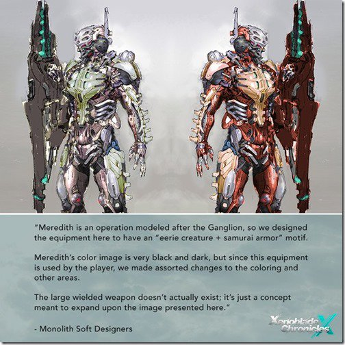 Xenoblade Chronices X - Meredith Armour Inspiration