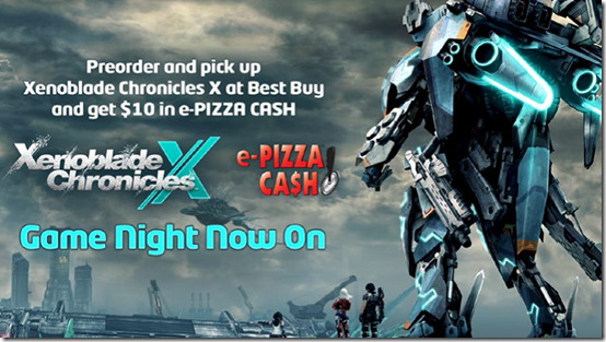 Xenoblade Chronices X - Pizza Pre-order