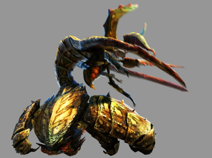 Monster Hunter 4 Ultimate Beasts - Desert Seltas Queen - Render