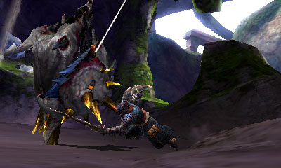 Monster Hunter 4 Ultimate Beasts - Nerscylla Subspecies - Swinging