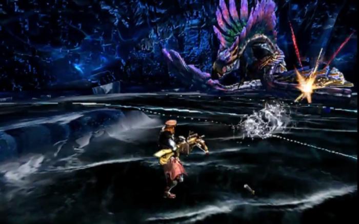 Monster Hunter 4 Ultimate Beasts - Tidal Najarala - Projectile