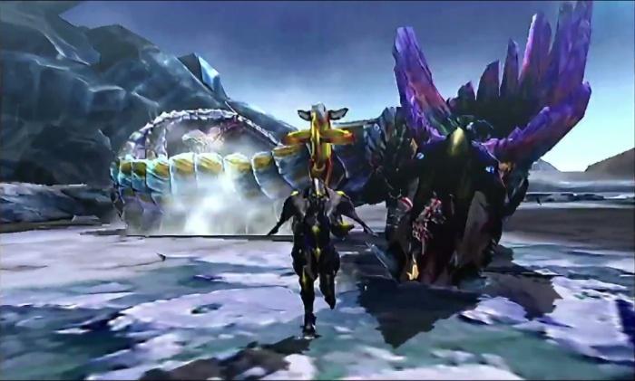 Monster Hunter 4 Ultimate Beasts - Tidal Najarala - Sliding